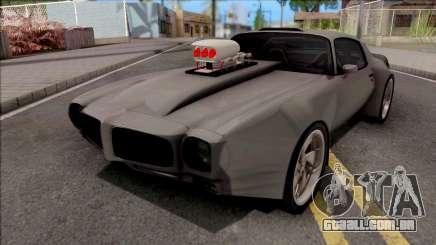 Pontiac Firebird 1970 Grey para GTA San Andreas