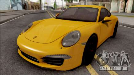 Porsche 911 Carrera S Yellow para GTA San Andreas