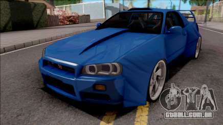 Nissan Skyline R34 GT-R Blue para GTA San Andreas