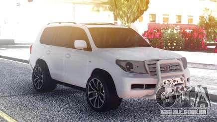 Toyota Land Cruiser 200 Original White para GTA San Andreas