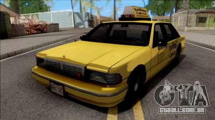 Chevrolet Caprice 1992 Táxi Amarelo Táxi Sa Estilo para GTA San Andreas