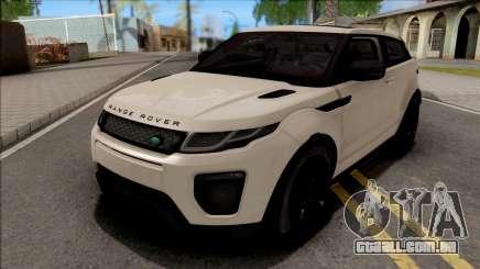Land Rover Range Rover Evoque White para GTA San Andreas