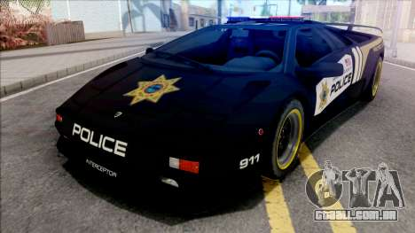 Lamborghini Diablo SV Police NFS Hot Pursuit para GTA San Andreas