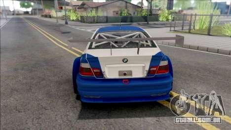 BMW M3 GTR NFS Most Wanted para GTA San Andreas