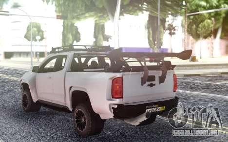 Chevrolet Colorado ZR2 2017 para GTA San Andreas