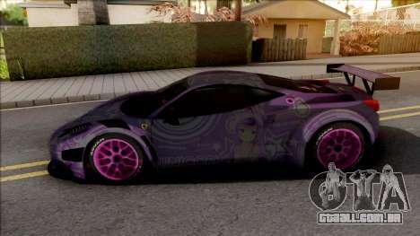Ferrari 458 GT3 Itasha Unicorn of AzurLane DTM para GTA San Andreas