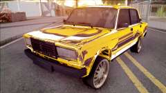 VAZ-2107 de Ouro Chrome Baku