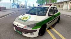 Peugeot 206 Iranian Police para GTA San Andreas