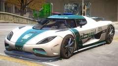 Koenigsegg Agera Police PJ4 para GTA 4