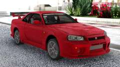 Nissan Skyline GT-R R34 V-Spec II Red Coupe para GTA San Andreas