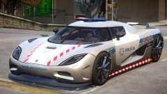 Koenigsegg Agera Highway Police para GTA 4