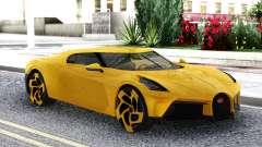 Bugatti La Voiture Noire 2019 Yellow Coupe para GTA San Andreas