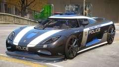 Koenigsegg Agera Police PJ3 para GTA 4