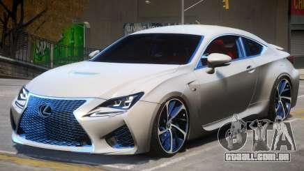 Lexus Coupe RC F para GTA 4