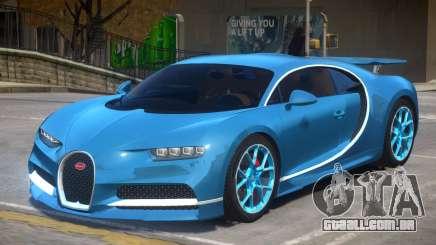2017 Bugatti Chiron wheel blue para GTA 4
