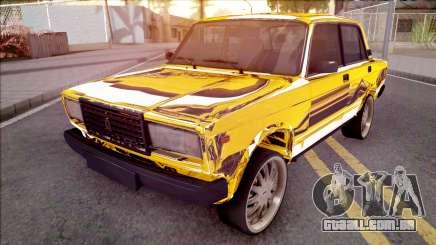 VAZ-2107 de Ouro Chrome Baku para GTA San Andreas