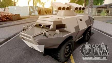 GTA V HVY APC S.A.M. Turret SA Style para GTA San Andreas