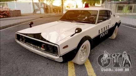 Nissan Skyline GT-R KPGC110 Police Japan para GTA San Andreas