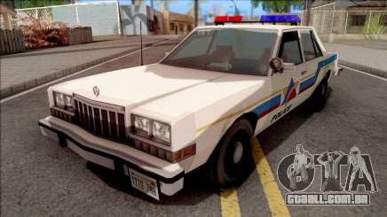Dodge Diplomat 1989 Hometown Police para GTA San Andreas