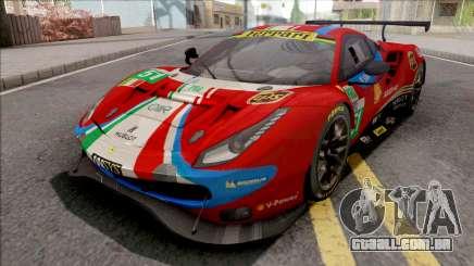 Ferrari 488 GTE Evo 2018 (AF Corse) PJ Preset 1 para GTA San Andreas