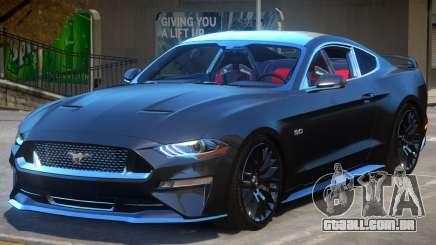 Ford Mustang GT 2019 para GTA 4