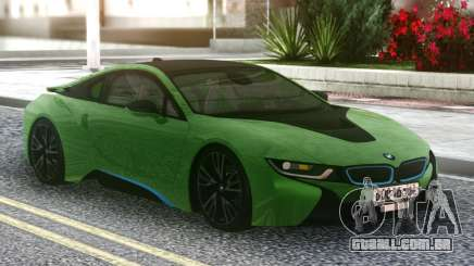 BMW I8 2018 Green para GTA San Andreas