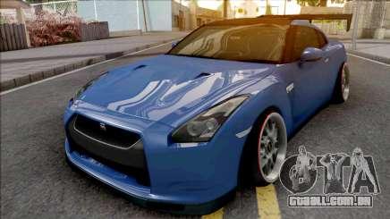 Nissan GT-R Spec V Stance Blue para GTA San Andreas