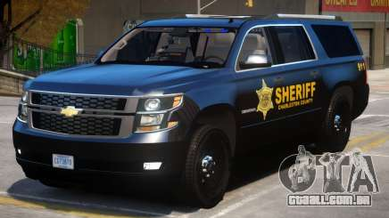 Chevrolet Suburban Police para GTA 4