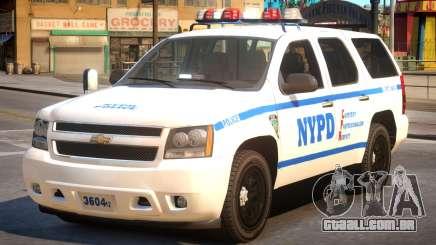 NYPD Chevrolet Tahoe para GTA 4
