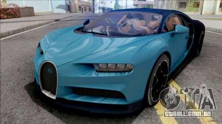 Bugatti Chiron 2017 Blue para GTA San Andreas