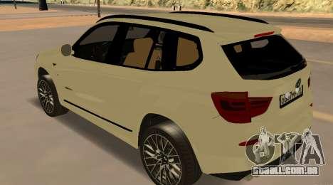 BMW X3 F25 2012 v1.0 Bulkin edition para GTA San Andreas