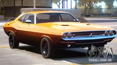 1971 Challenger V1 para GTA 4