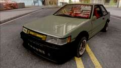 Toyota AE86 Levin Coupe Vision TopTeen para GTA San Andreas