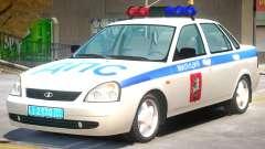 Lada Priora Police para GTA 4