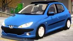 Peugeot 206 V1.2 para GTA 4