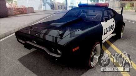 Plymouth GTX 1972 Custom Police LVPD para GTA San Andreas