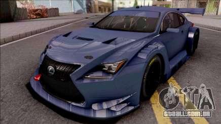 Lexus RC F GT3 2017 para GTA San Andreas