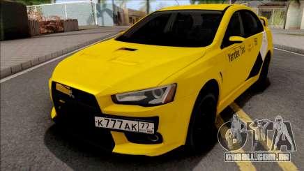 Mitsubishi Lancer Evolution 10 Yandex Taxi para GTA San Andreas