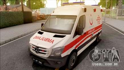 Mercedes-Benz Sprinter 2017 Turkish Ambulance para GTA San Andreas