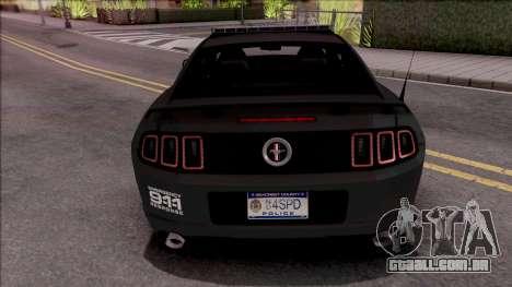 Ford Mustang Boss 302 2013 Police para GTA San Andreas