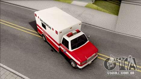 HD Decal for Ambulance para GTA San Andreas