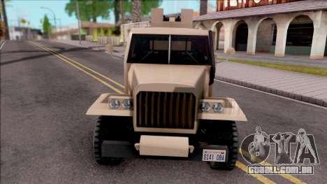 GTA V Bravado Half-Track SA Style para GTA San Andreas