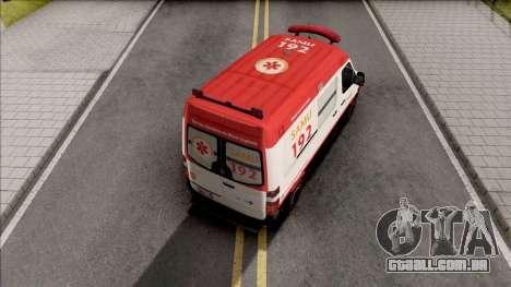 Mercedes-Benz Sprinter 2013 Ambulancia para GTA San Andreas