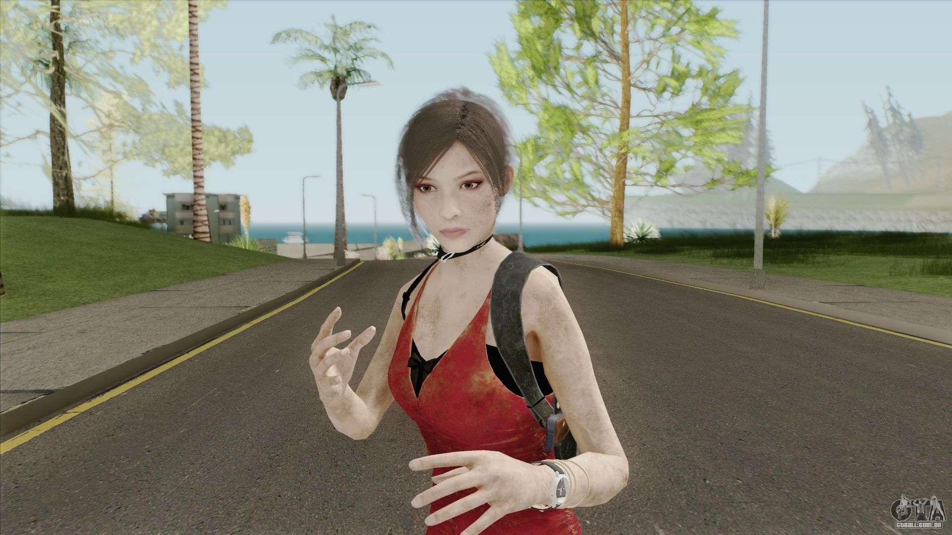 Ada Wong Bandaged (From RE2 Remake) для GTA San Andreas