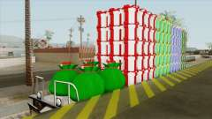 Christmas Railway Wagon para GTA San Andreas