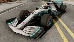 Mercedes-AMG F1 W10 2019 (C4 Tyres Red) para GTA San Andreas