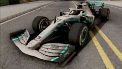 Mercedes-AMG F1 W10 2019 (C3 Tyres Yellow) para GTA San Andreas