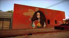 Grafite de uma morena para GTA San Andreas