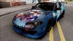 Nissan Silvia S15 Kimetsu no Yaiba Paintjob para GTA San Andreas