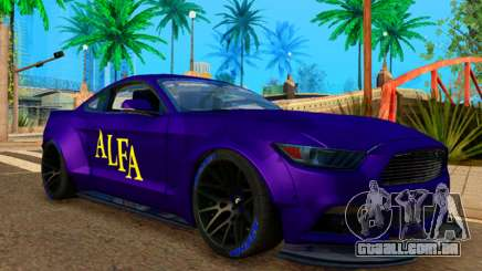 Ford Mustang GT Liberty Walk 2015 Purple para GTA San Andreas
